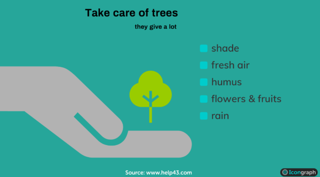 Infographic save the trees